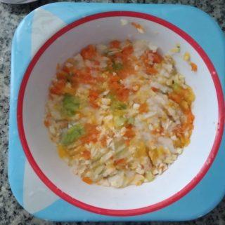 papinha de abobrinha, batata, cenoura e frango