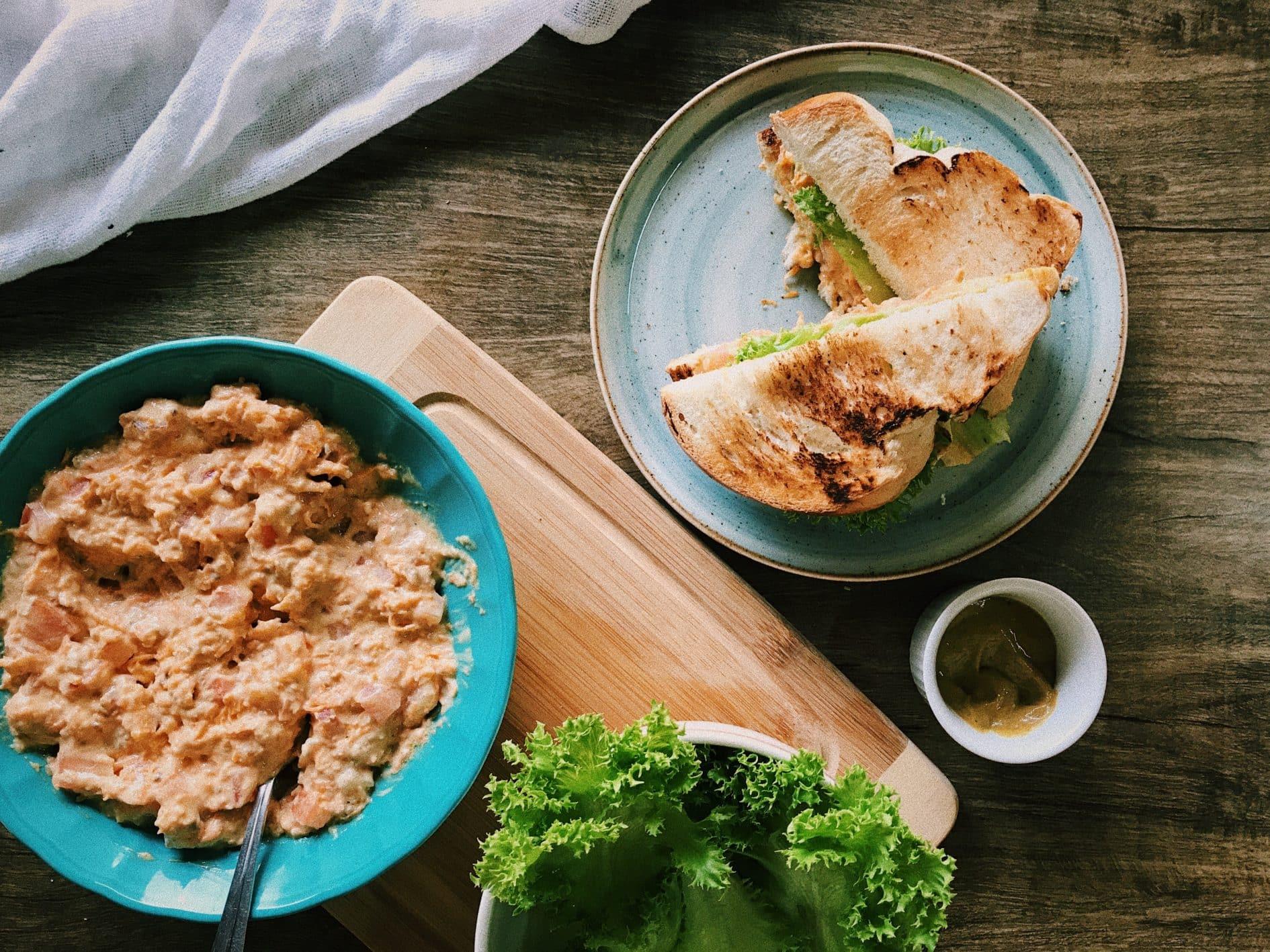 sanduíche natural de atum