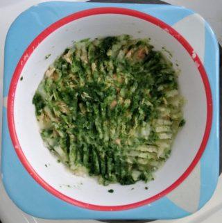 papinha de salmão, espinafre e batata