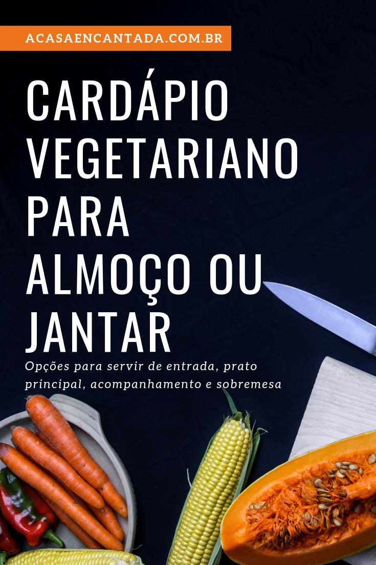 arte de cardápio vegetariano para postar no Pinterest