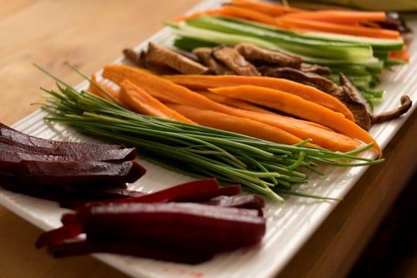 recheios para sushi vegano
