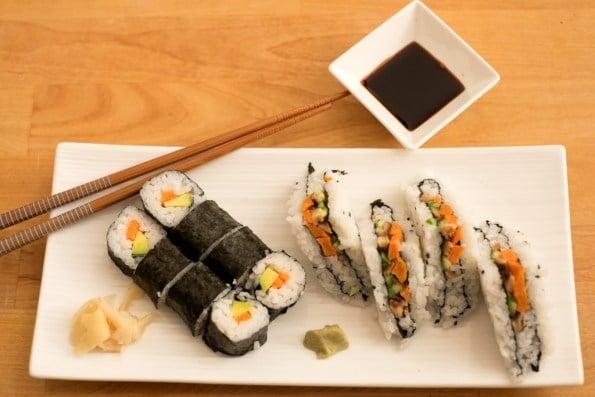 sushi vegano é delicioso