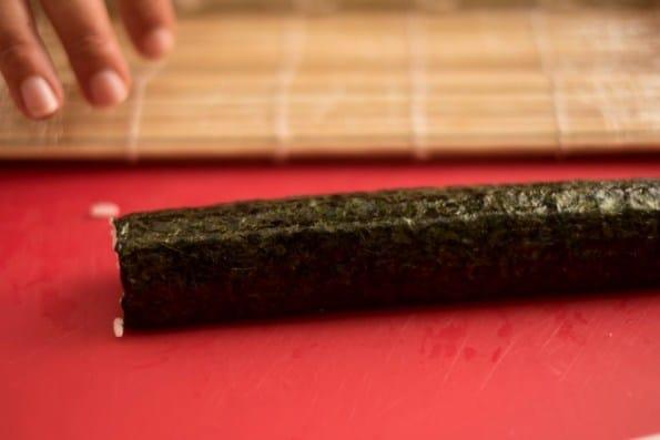 rolo de sushi vegano pronto!