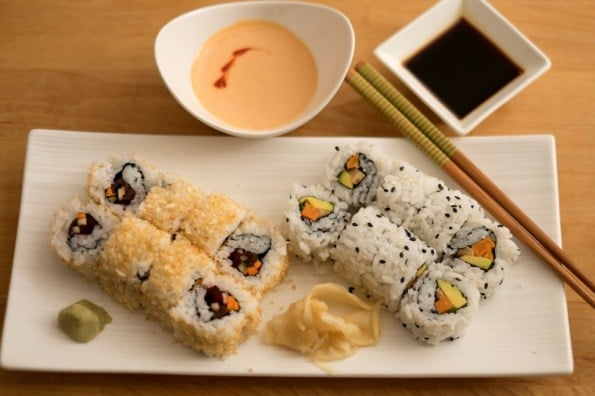 está pronto o sushi vegano