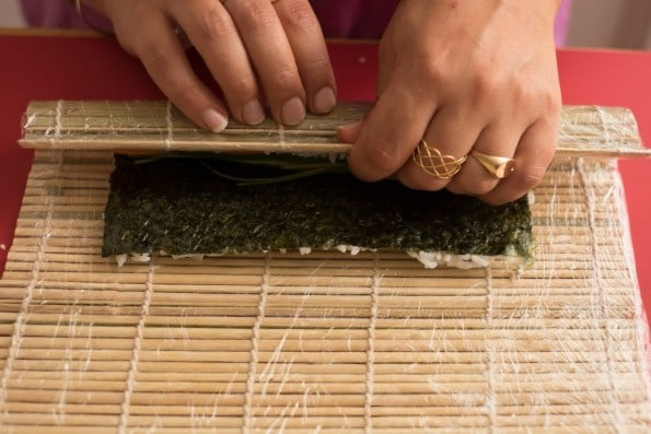 enrolando a alga