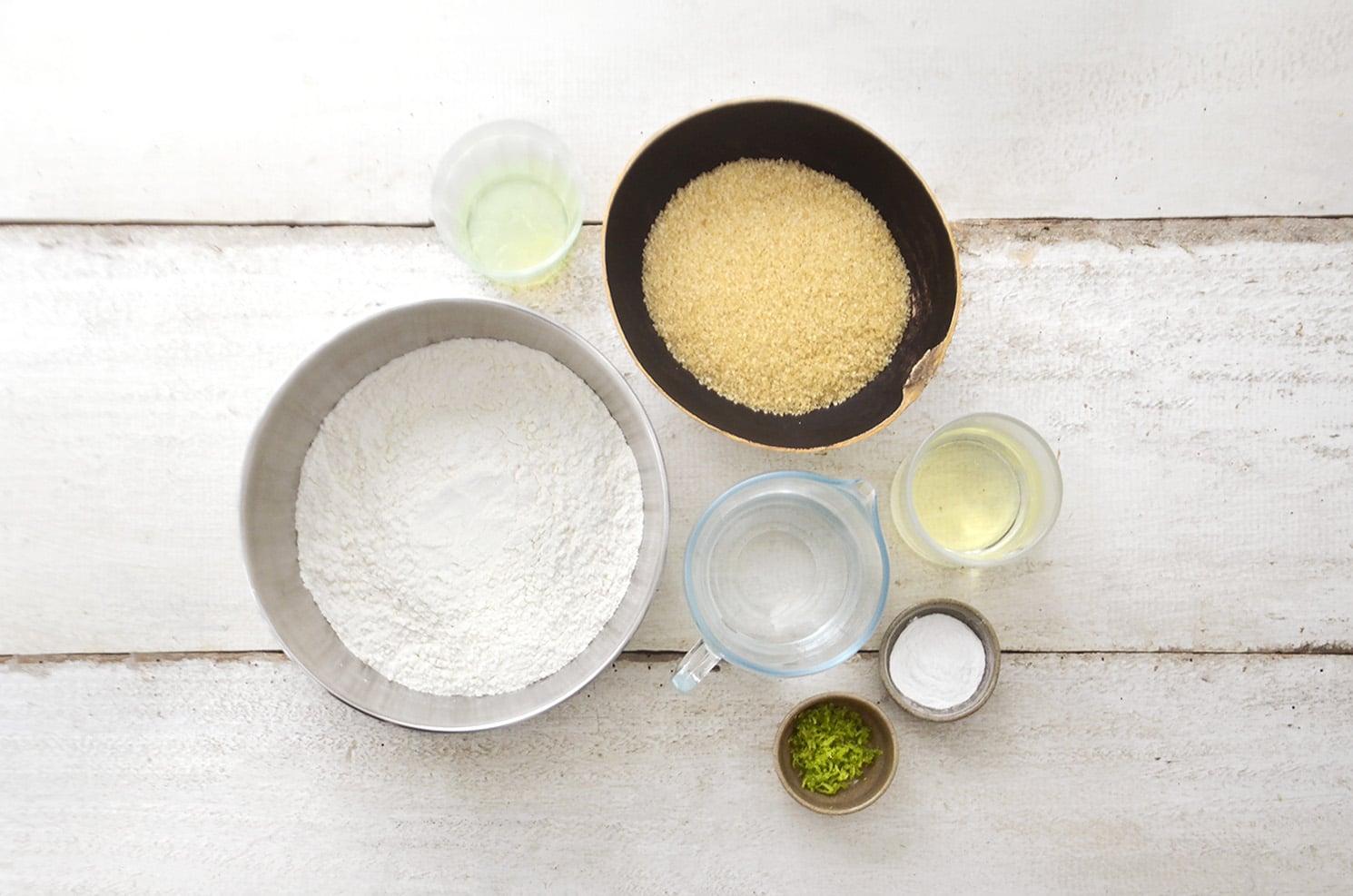 ingredientes para fazer bolo de limão vegano