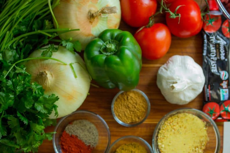legumes, temperos e vegetais