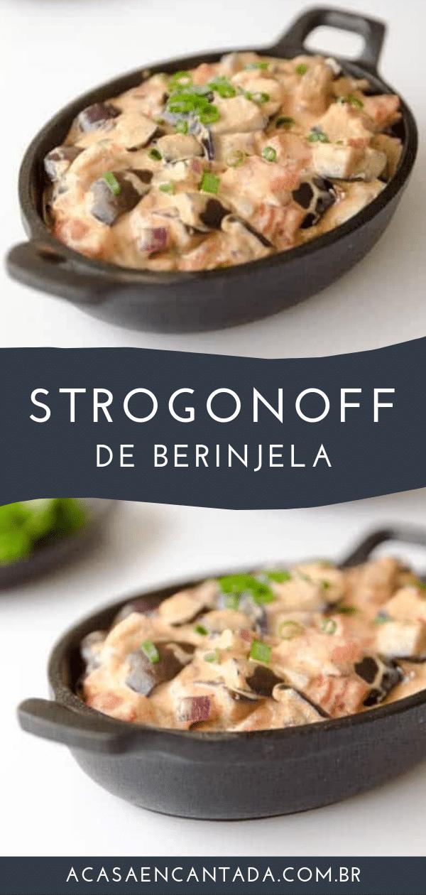 receita de strogonoff de berinjela