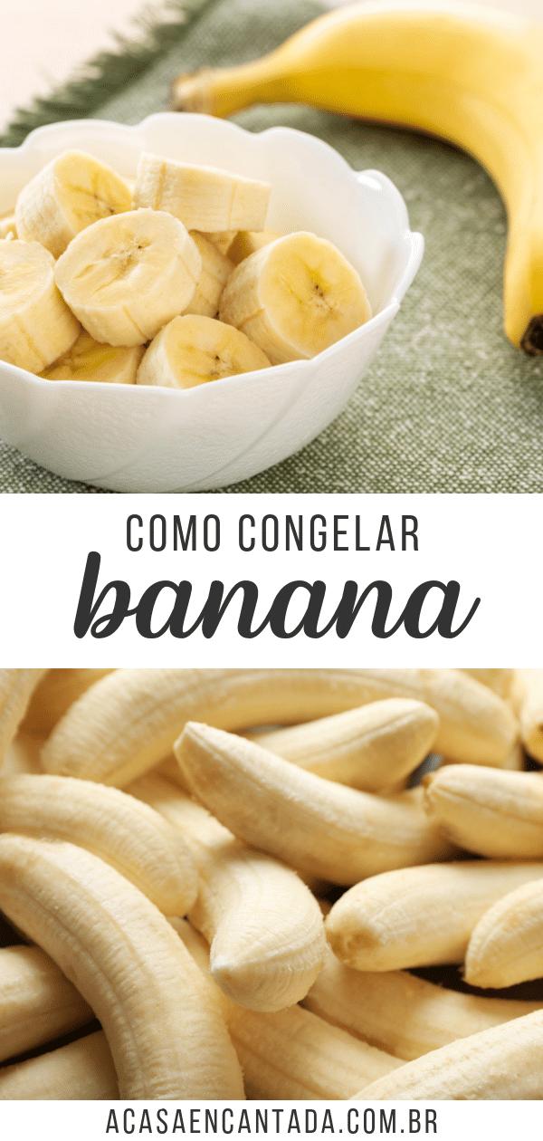 congelar bananas