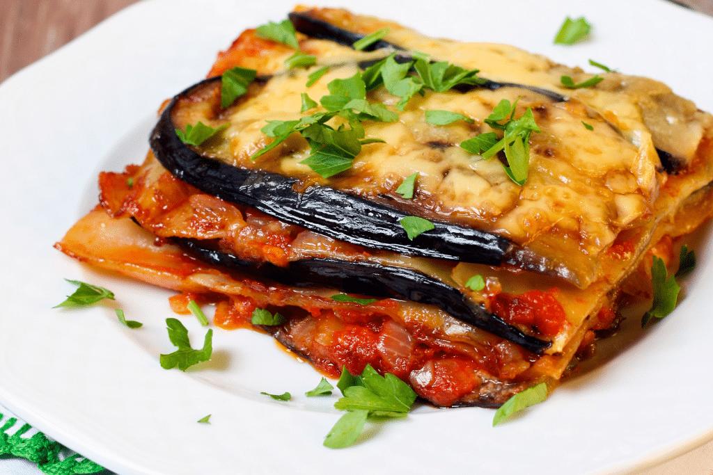 lasanha de berinjela vegetariana