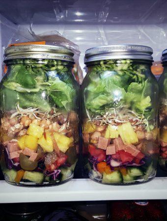 salada de pote vegana