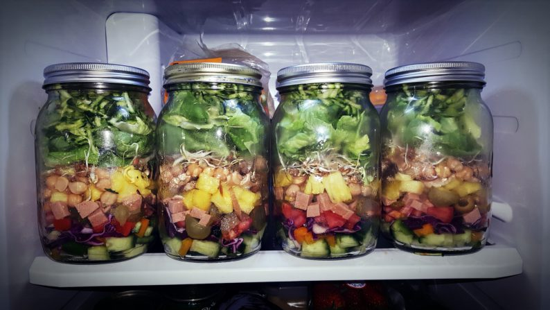 potes de salada