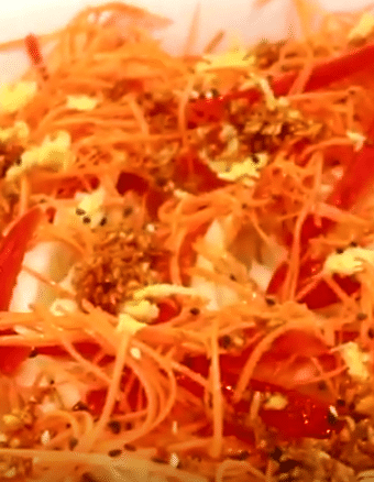 salada de acelga oriental