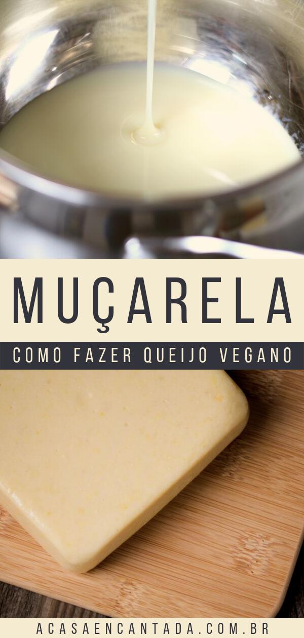 muçarela vegana - como fazer queijo vegano