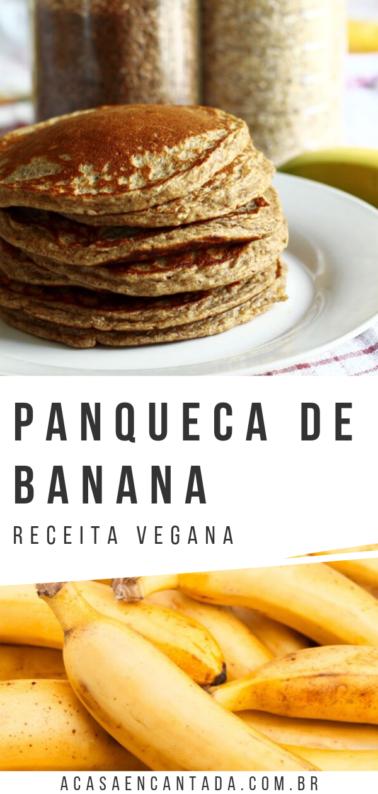receita vegana - panqueca de banana
