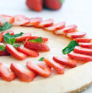 cheesecake com morango