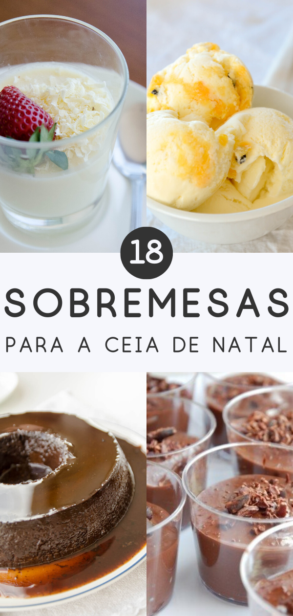18 sobremesa de natal