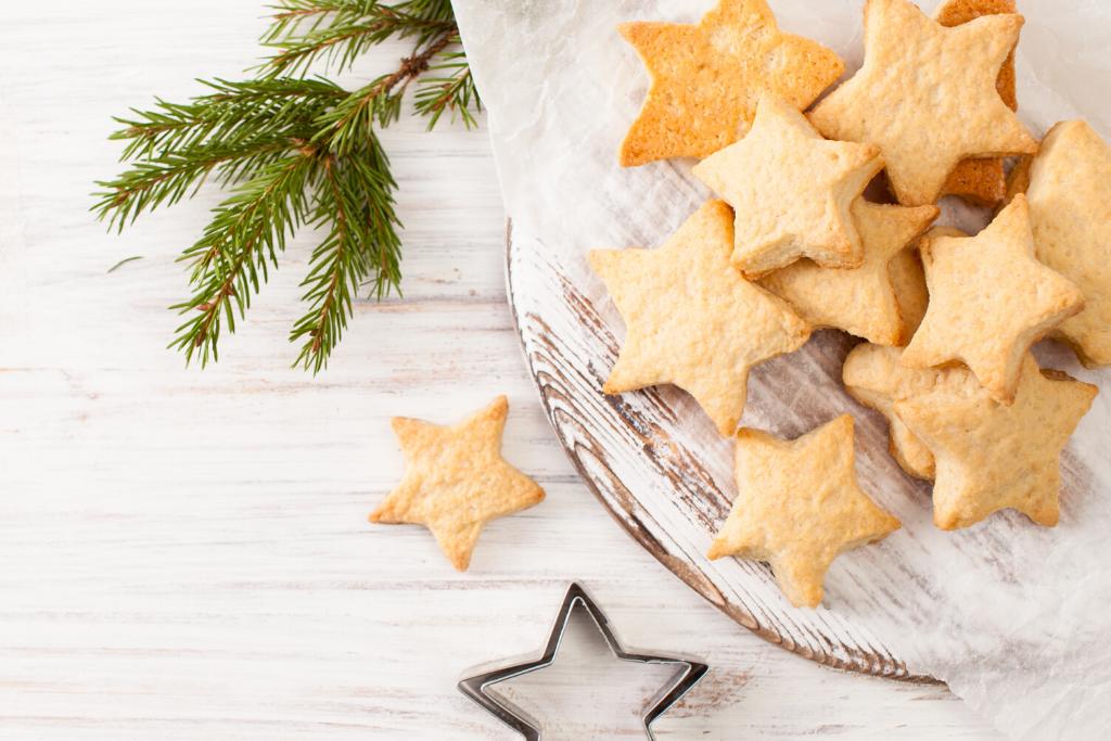 biscoito amanteigado em forma de estrela
