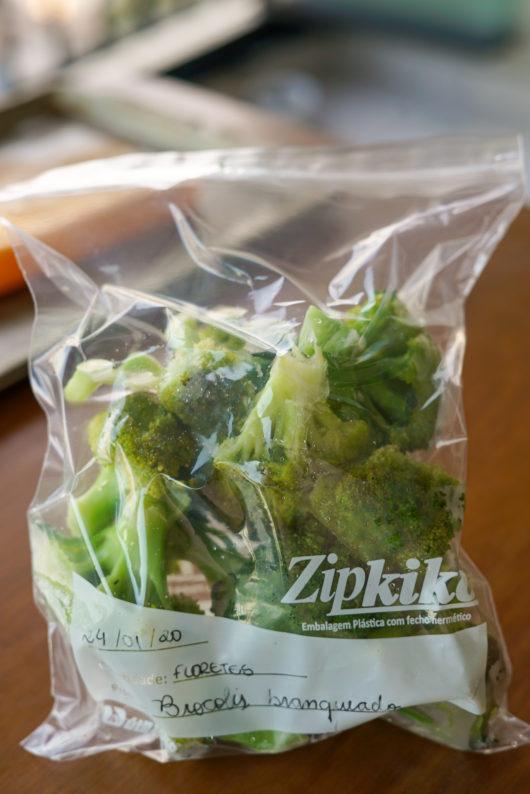 como congelar brocolis por 6 meses