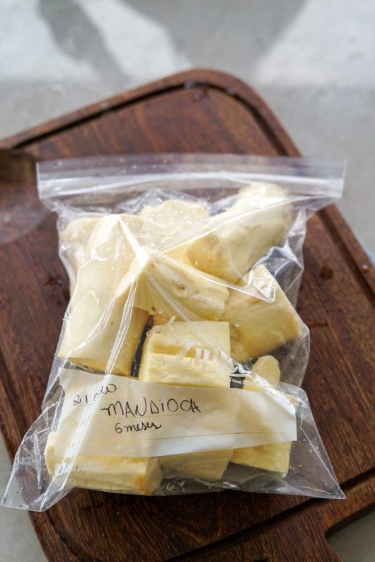 como congelar mandioca, aipim ou macaxeira