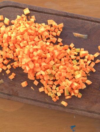 como congelar cenoura