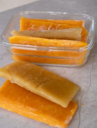como congelar frutas maduras para suco