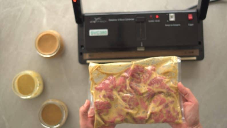carne marinada para congelar