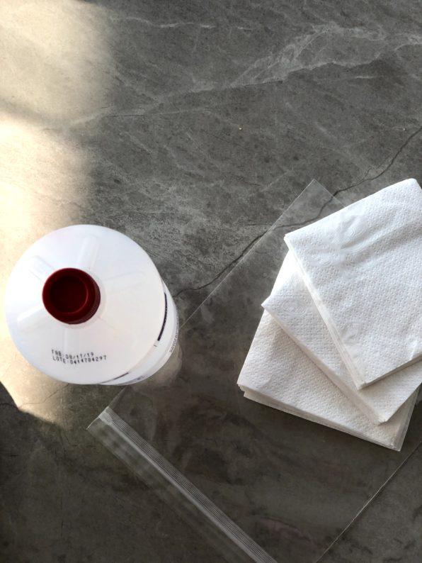 como fazer lencinhos desinfetantes para limpar superfícies