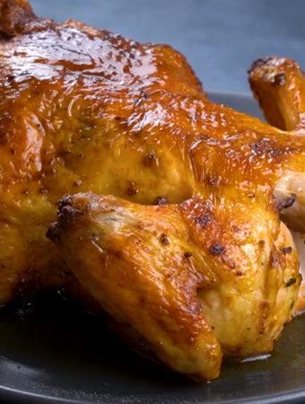 como fazer frango assado inteiro na air fryer