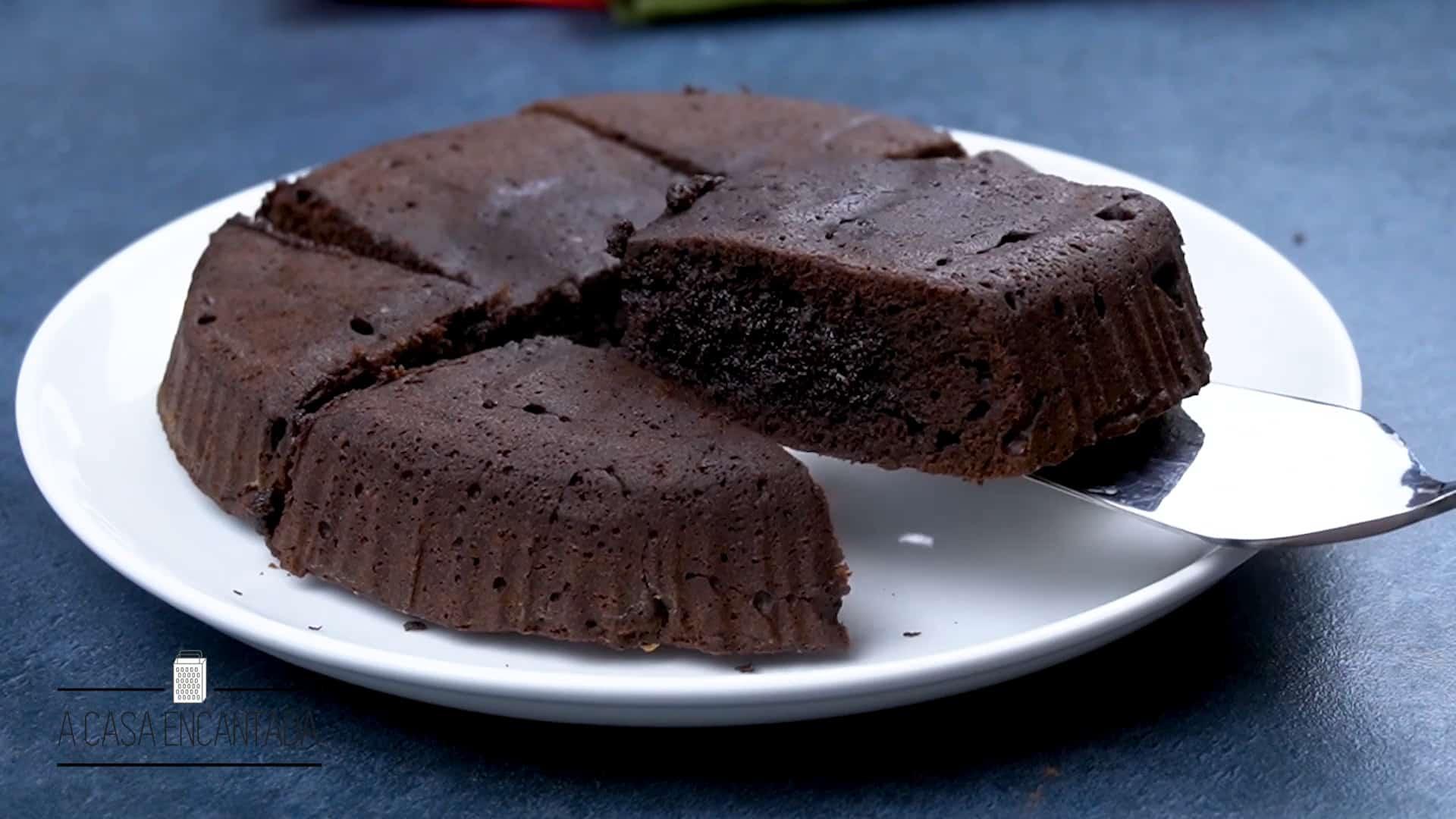 brownie fácil feito na airfryer