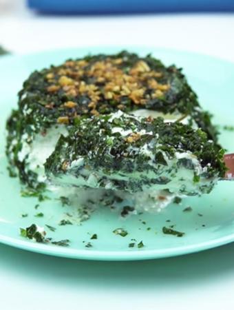 Entradas para o Natal: patê de queijo com salsinha