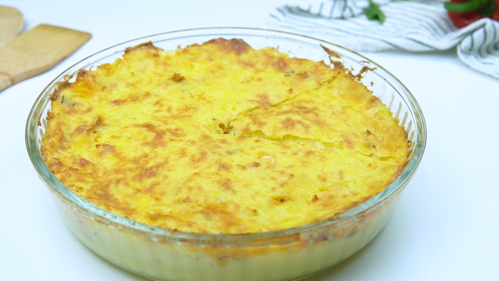 Escondidinho de frango com batatas em 30 minutos