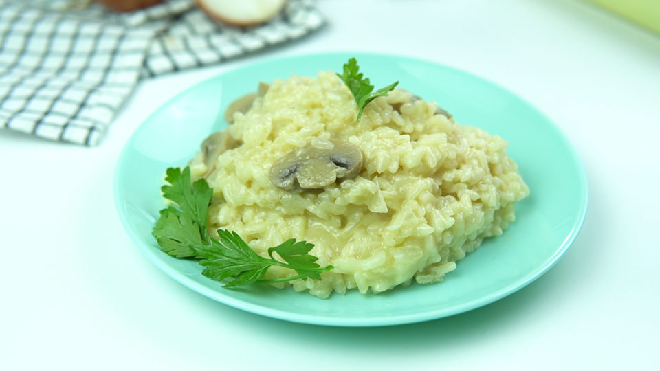 Risoto de champignon com queijo