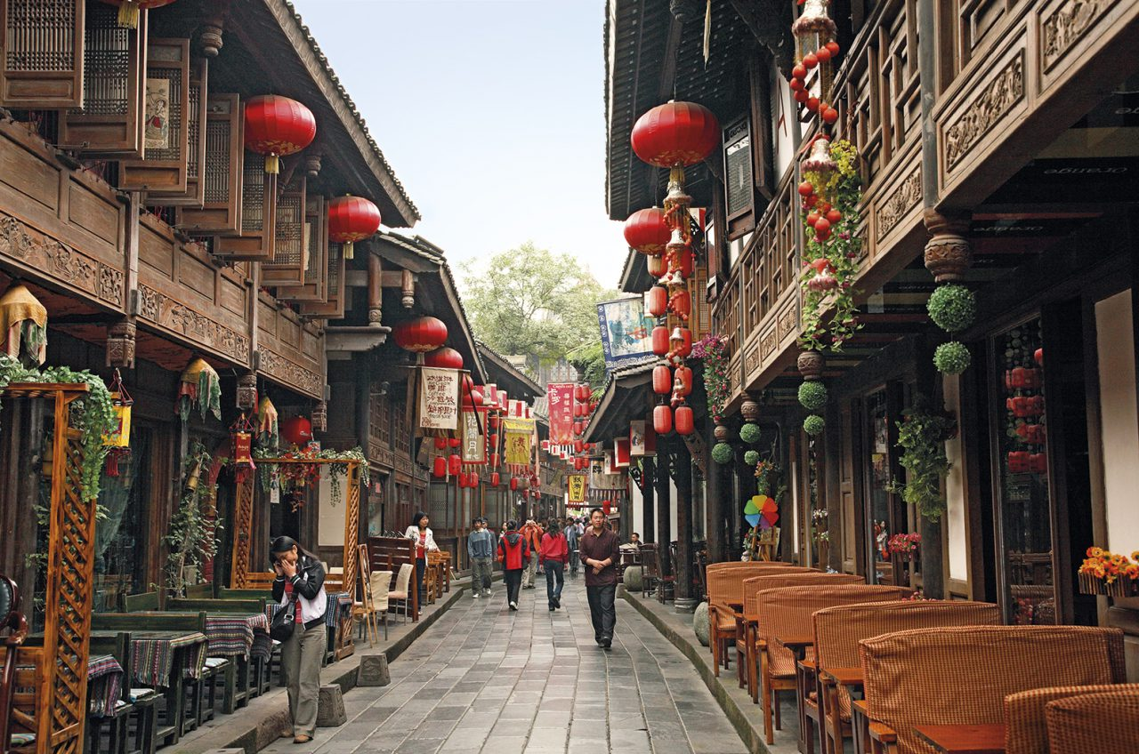 Frango xadrez nasceu em Sichuan, China.
