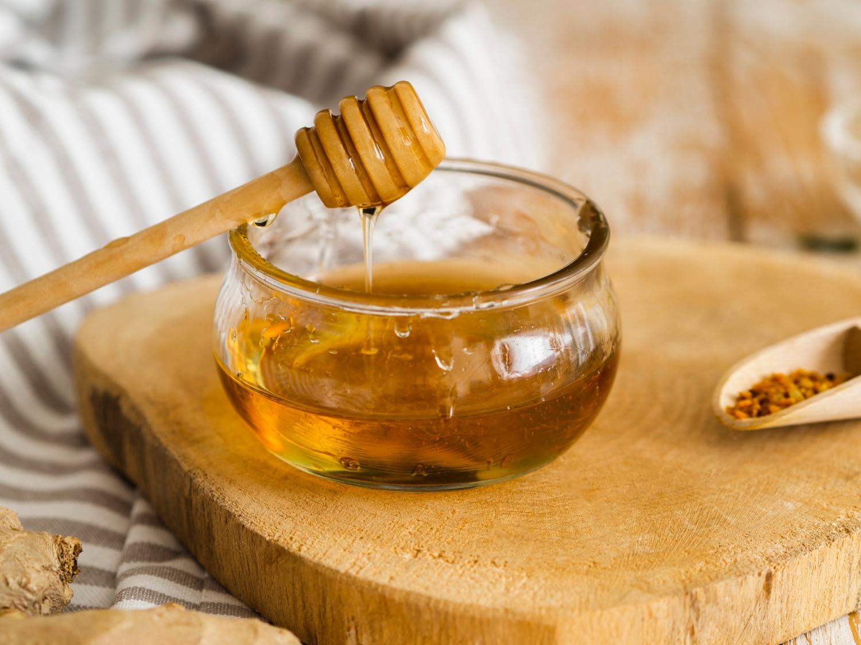 mel, ingrediente do molho de mel e pimenta
