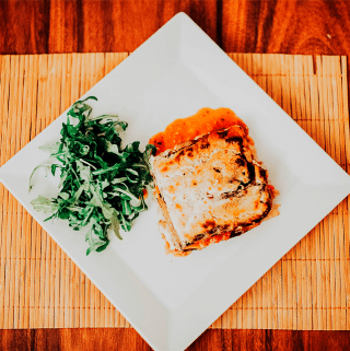 lasanha vegana com tofu