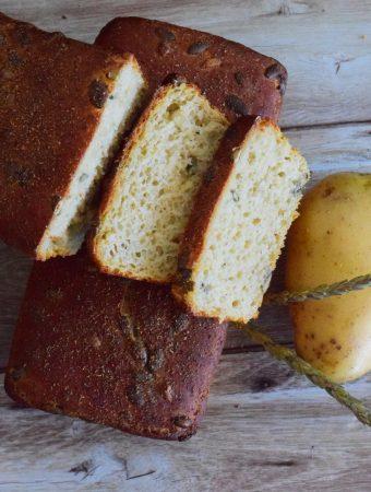 pão de batata-doce sem glúten